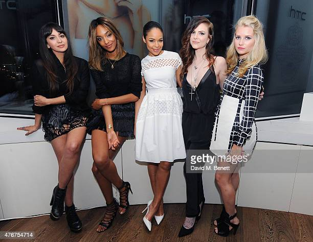 Zara Martin Jourdan Dunn SarahJane Crawford CallyJo and Lottie Moss pose as HTC and Jourdan Dunn launch the Limited Edition HTC One M9 INK handset at...