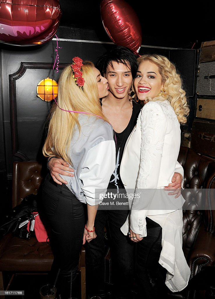 Zara Martin, Natt Weller and Rita Ora attend The Rum Kitchen's Valentine's Speed Dating with The Village Bicycle on February 14, 2013 in London, England.