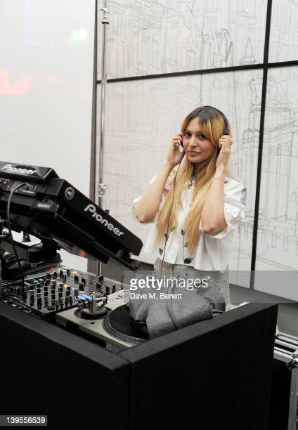 Zara Martin performs at a party hosted by Vauxhall Motors to celebrate their collaboration with menswear designer James Small following his...