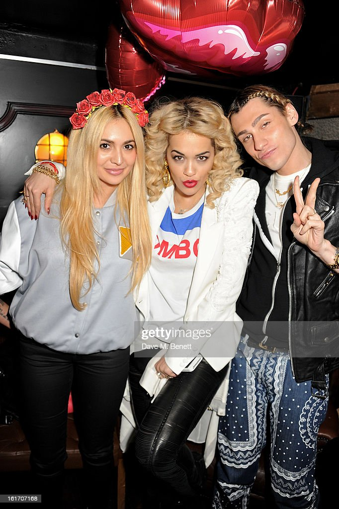 Zara Martin, Rita Ora and guest attend The Rum Kitchen's Valentine's Speed Dating with The Village Bicycle on February 14, 2013 in London, England.
