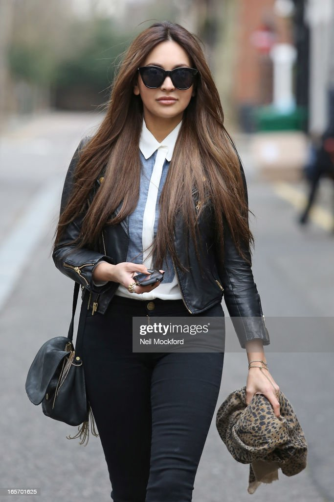Zara Martin seen leaving Josh Wood Atelier Hair Salon with her new hairstyle on April 5, 2013 in London, England.