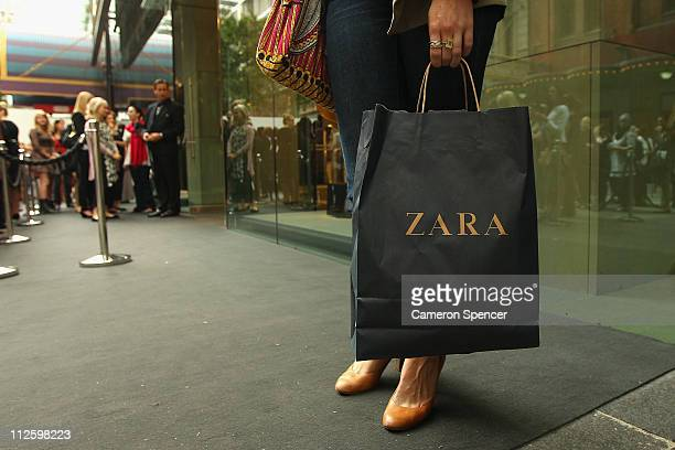 Zara opens the doors to its Westfield Pitt Street Mall store on April 20 2011 in Sydney Australia This is the first Australian store opening for the...