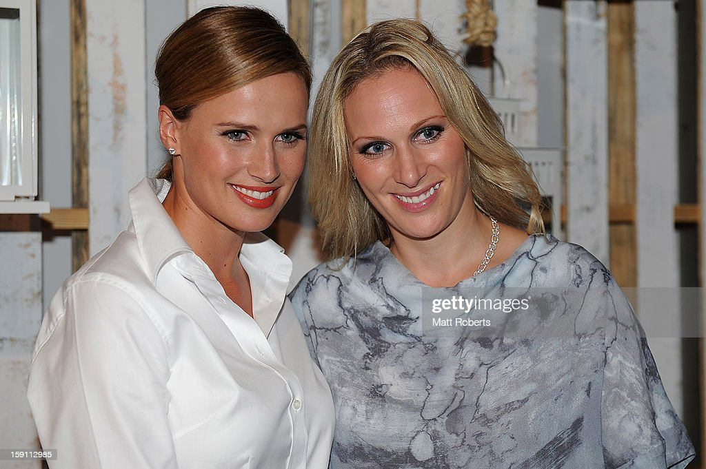 <a gi-track='captionPersonalityLinkClicked' href=/galleries/search?phrase=Zara+Phillips&family=editorial&specificpeople=161323 ng-click='$event.stopPropagation()'>Zara Phillips</a> and Francesca Cumani pose during the Magic Millions Opening Night cocktail party at Surfers Paradise foreshore on January 8, 2013 in Surfers Paradise, Australia.