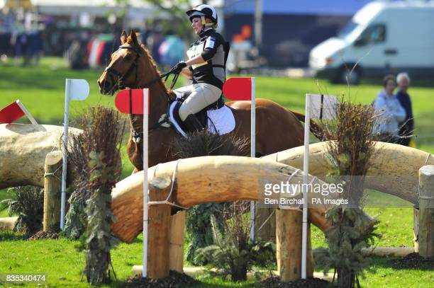 Zara Phillips and her horse Secret Legacy during the Cross Country event at Powderham Castle Horse Trials in Exeter