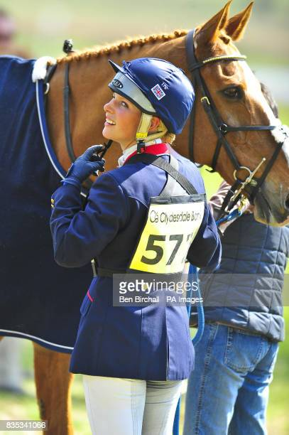 Zara Phillips and her horse Secret Legacy during the Powderham Castle Horse Trials in Exeter