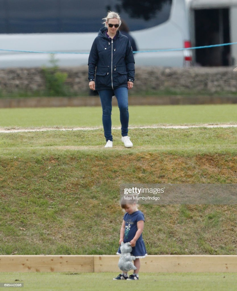 Zara Phillips and Mia Tindall attend the Maserati Royal Charity Polo Trophy Match during the Gloucestershire Festival of Polo at the Beaufort Polo Club on June 11, 2017 in Tetbury, England.