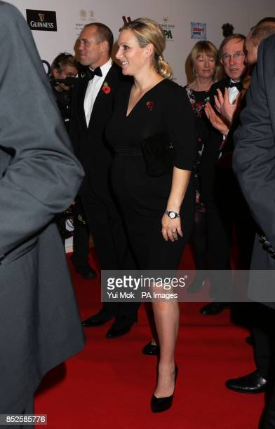 Zara Phillips and Mike Tindall arrive for the 2003 Rugby Union World Cup winning squad reunion at Battersea Evolution London