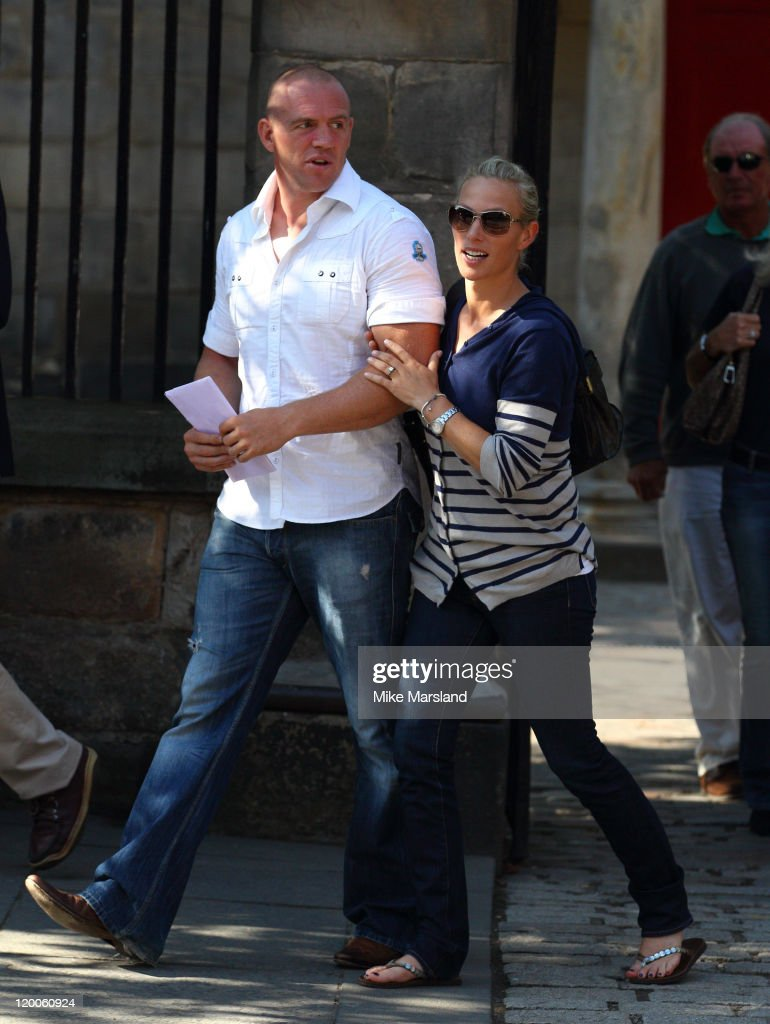 Zara Phillipike Tindall Attend Their Wedding Rehearsal At Canongate Kirk On July 29