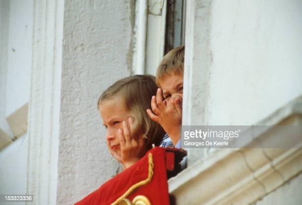 Zara Phillips and Prince William circa 1988