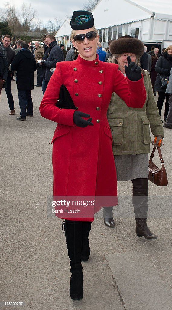 Zara Phillips and Princess Anne, Princess Royal attend the Cheltenham Festival Day 2 on Ladies Day at Cheltenham racecourse on March 13, 2013 in London, England.