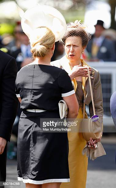 Zara Phillips and Princess Anne The Princess Royal attend Day 1 of Royal Ascot at Ascot Racecourse on June 17 2014 in Ascot England