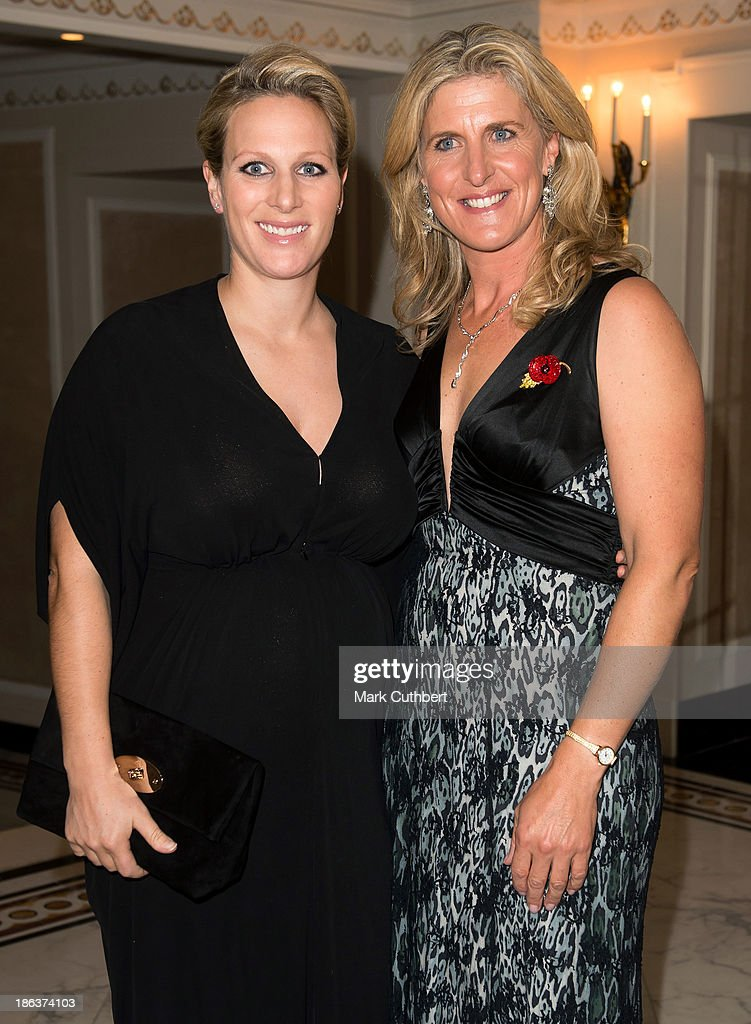 Zara Phillips and Tina Cook attend the British Olympic Ball at The Dorchester on October 30, 2013 in London, England.