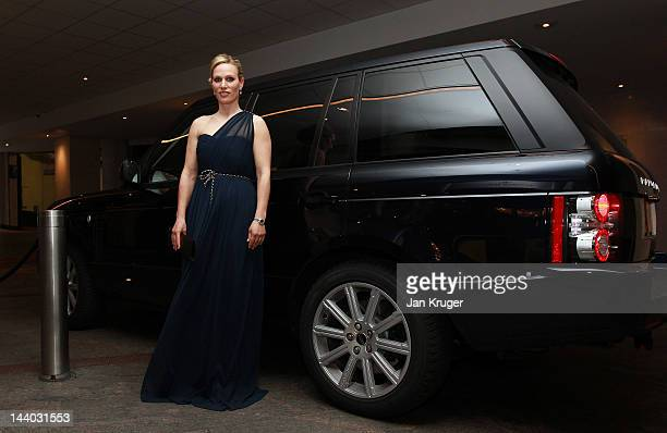 Zara Phillips arrives during the Aviva Premiership Rugby Awards Dinner at the Hilton Hotel on May 8 2012 in London England