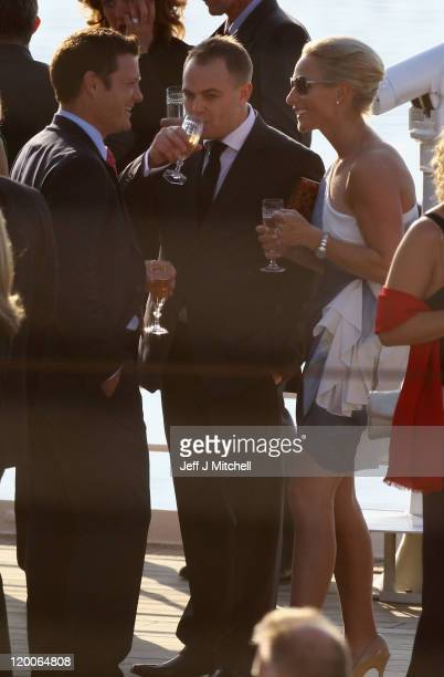 Zara Phillips attends a pre wedding party hosted by Zara Phillips and Mike Tindall on the Britannia on July 29 2011 in Edinburgh Scotland The Queen's...