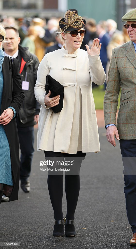 <a gi-track='captionPersonalityLinkClicked' href=/galleries/search?phrase=Zara+Phillips&family=editorial&specificpeople=161323 ng-click='$event.stopPropagation()'>Zara Phillips</a> attends Day 1 of the Cheltenham Festival at Cheltenham Racecourse on March 11, 2014 in Cheltenham, England.