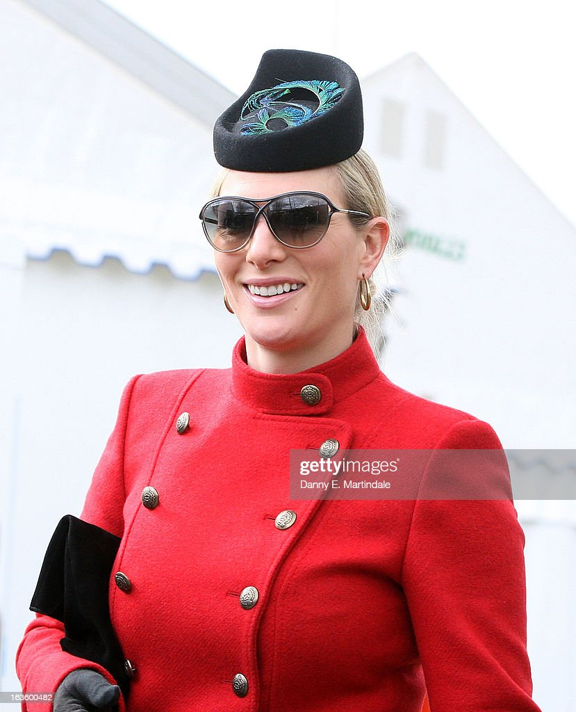 Zara Phillips attends day 2 of the Cheltenham Festival at Cheltenham Racecourse on March 13, 2013 in Cheltenham, England.