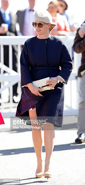 Zara Phillips attends day 3 'Grand National Day' of the Crabbie's Grand National Festival at Aintree Racecourse on April 11 2015 in Liverpool England