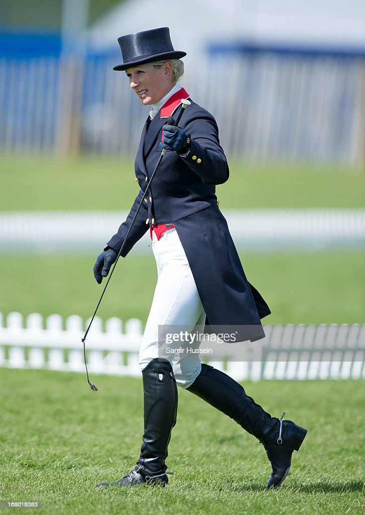Zara Phillips attends Day 3 of the Badminton Horse Trials on May 4, 2013 in Badminton, England.