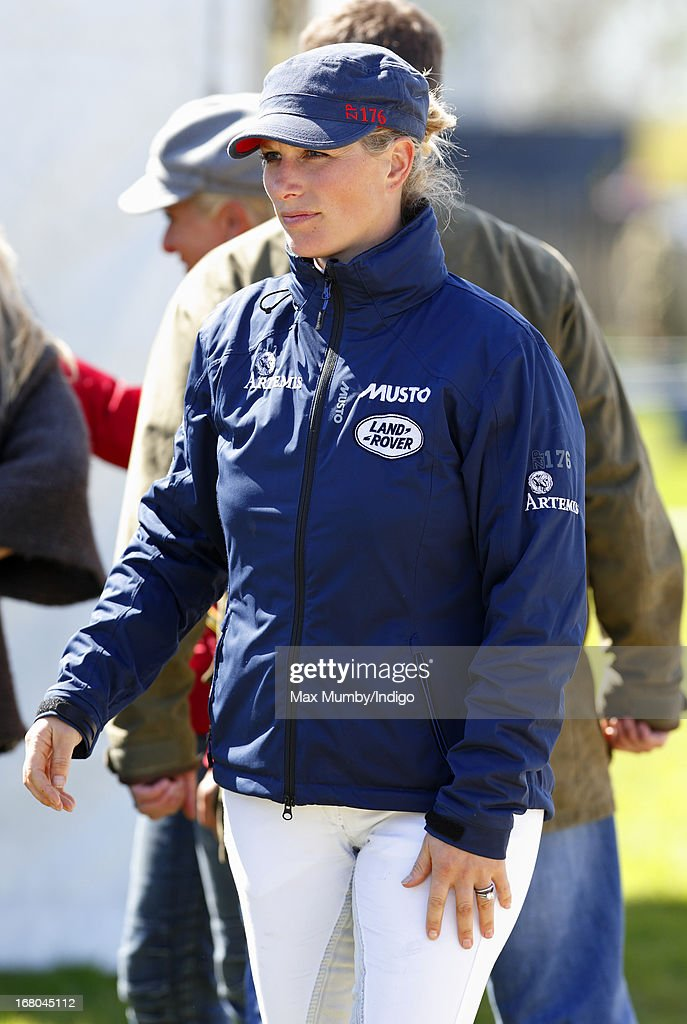 <a gi-track='captionPersonalityLinkClicked' href=/galleries/search?phrase=Zara+Phillips&family=editorial&specificpeople=161323 ng-click='$event.stopPropagation()'>Zara Phillips</a> attends day 3 of the Badminton Horse Trials on May 4, 2013 in Badminton, England.