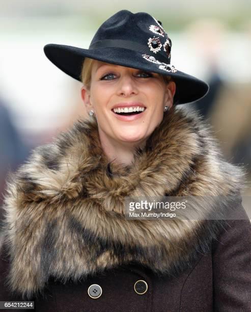 Zara Phillips attends day 3 of the Cheltenham Festival at Cheltenham Racecourse on March 16 2017 in Cheltenham England