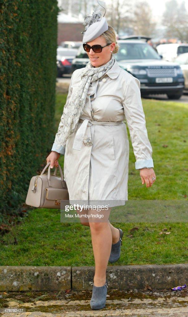 Zara Phillips attends Day 4 of the Cheltenham Festival at Cheltenham Racecourse on March 14, 2014 in Cheltenham, England.