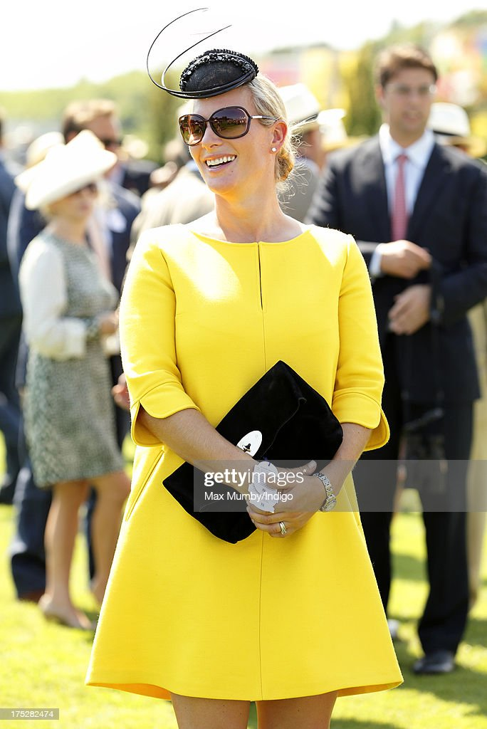 <a gi-track='captionPersonalityLinkClicked' href=/galleries/search?phrase=Zara+Phillips&family=editorial&specificpeople=161323 ng-click='$event.stopPropagation()'>Zara Phillips</a> attends Ladies Day of Glorious Goodwood at Goodwood Racecourse on August 1, 2013 in Chichester, England.