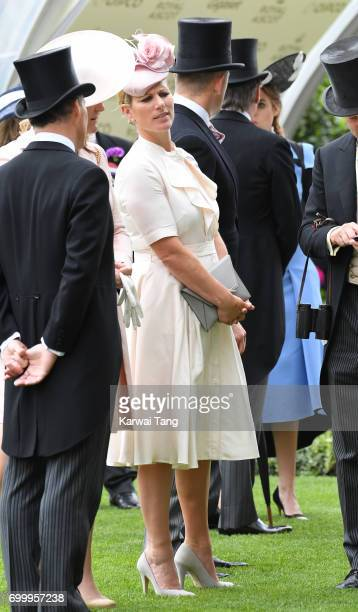 Zara Phillips attends Ladies Day of Royal Ascot 2017 at Ascot Racecourse on June 22 2017 in Ascot England