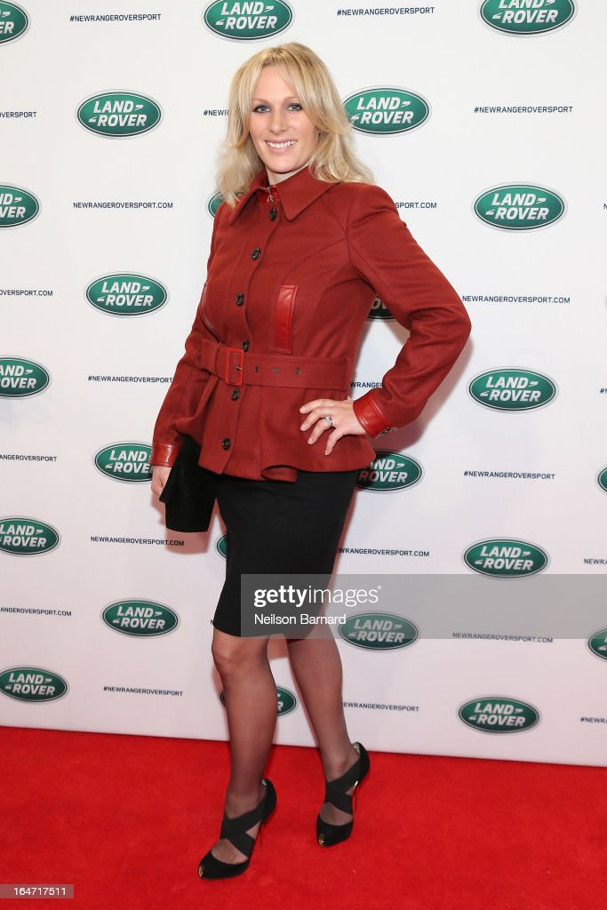 Zara Phillips attends the all-new Range Rover Sport reveal on March 26, 2013 in New York City.