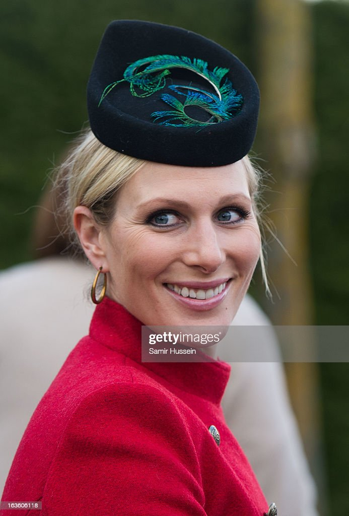 Zara Phillips attends the Cheltenham Festival Day 2 at Cheltenham racecourse on March 13, 2013 in London, England.