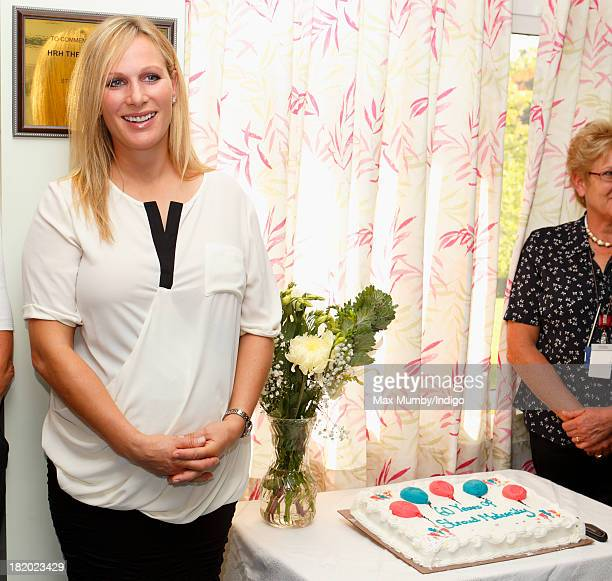 Zara Phillips attends the refurbishment open day and 60th birthday celebrations at the Stroud Maternity Unit on September 27 2013 in Stroud England