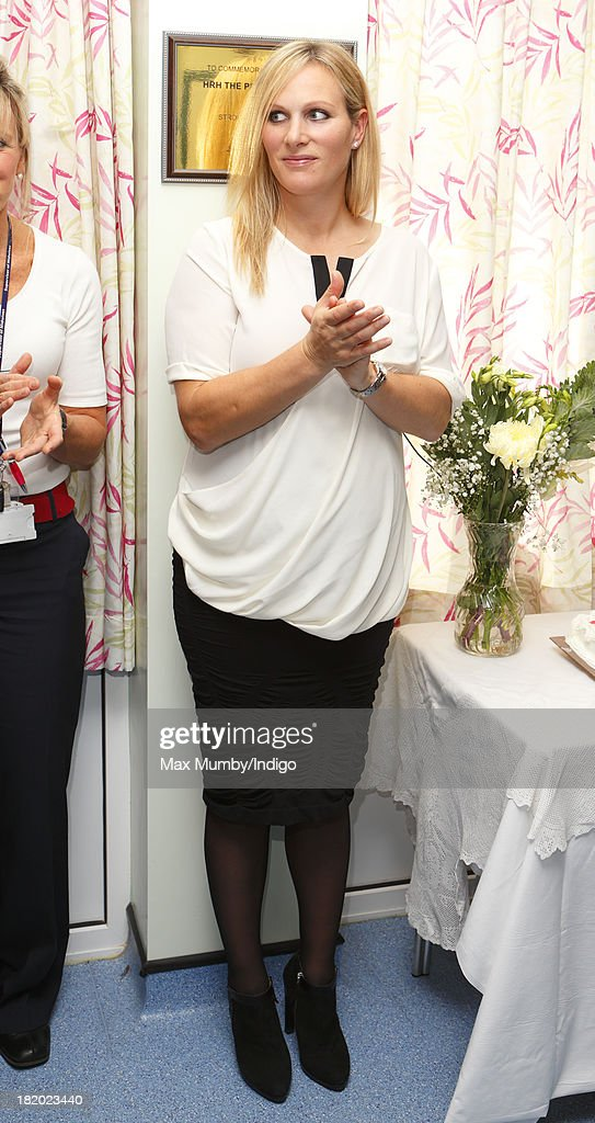 Zara Phillips attends the refurbishment open day and 60th birthday celebrations at the Stroud Maternity Unit on September 27, 2013 in Stroud, England.