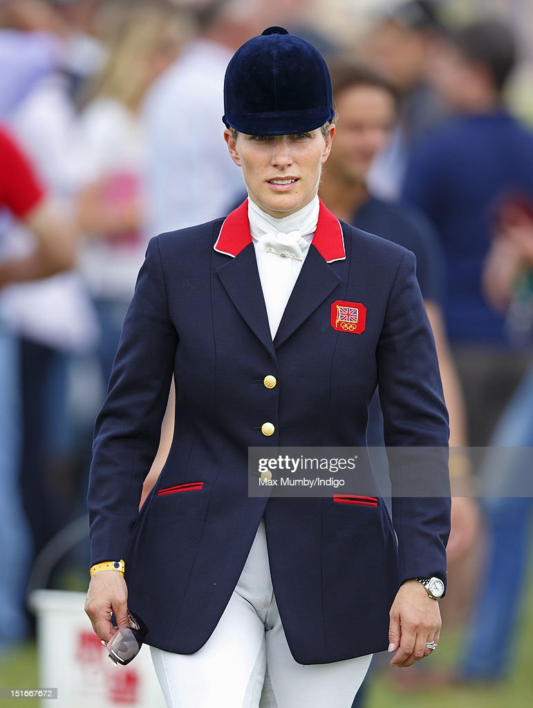 Zara Phillips attends the the Blenheim Palace International Horse Trials at Blenheim Palace on September 9, 2012 in Woodstock, England.