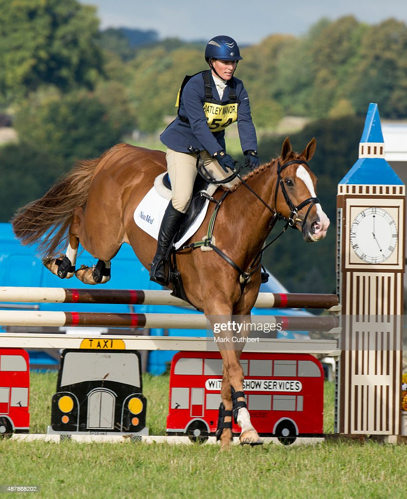 Zara Phillips competes at the Whatley Manor International Horse Trials at Gatcombe Park on September 12, 2015 in Stroud, England.