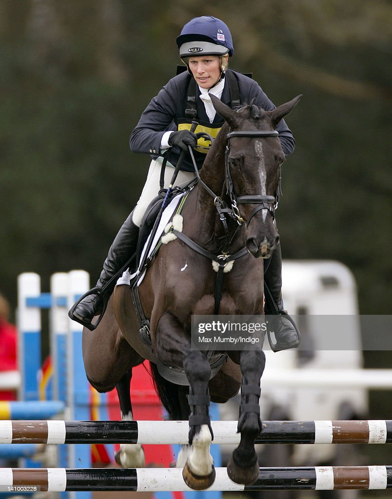 <a gi-track='captionPersonalityLinkClicked' href=/galleries/search?phrase=Zara+Phillips&family=editorial&specificpeople=161323 ng-click='$event.stopPropagation()'>Zara Phillips</a> competes on her horse 'Black Tuxedo' in the show jumping phase of the Tweseldown Horse Trials at Tweseldown Racecourse on March 9, 2012 in Fleet, England.