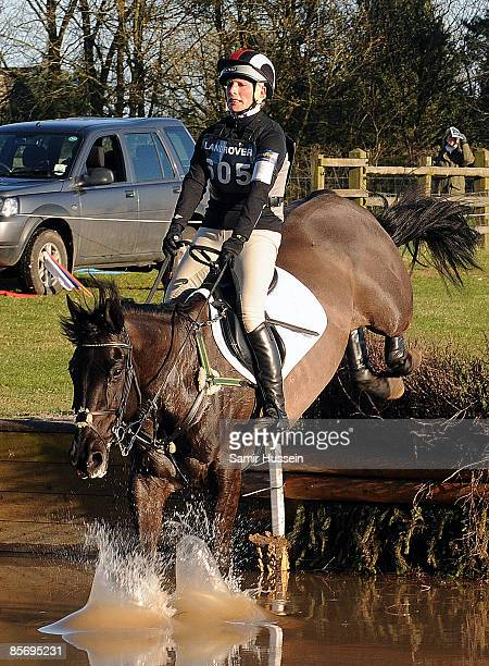 Zara Phillips competes on the horse Tallyho Sambucca at the water jump during day 2 of the Gatcombe Horse Trials on March 29 2009 at Gatcomb Park...