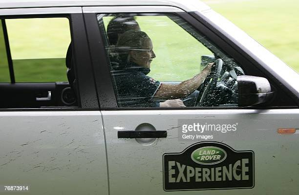 Zara Phillips during the Land Rover British Eventing OffRoading Day at Eastnor Castle on September 19 2007 in Eastnor England