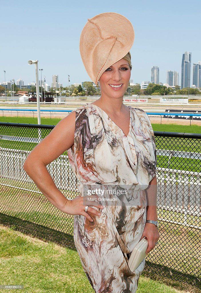 Zara Phillips in the Moet & Chandon marquee on Magic Millions Raceday at the Gold Coast Turf Club on January 12, 2013 in Gold Coast, Australia.