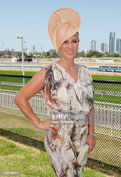 Zara Phillips in the Moet Chandon marquee on Magic Millions Raceday at the Gold Coast Turf Club on January 12 2013 in Gold Coast Australia