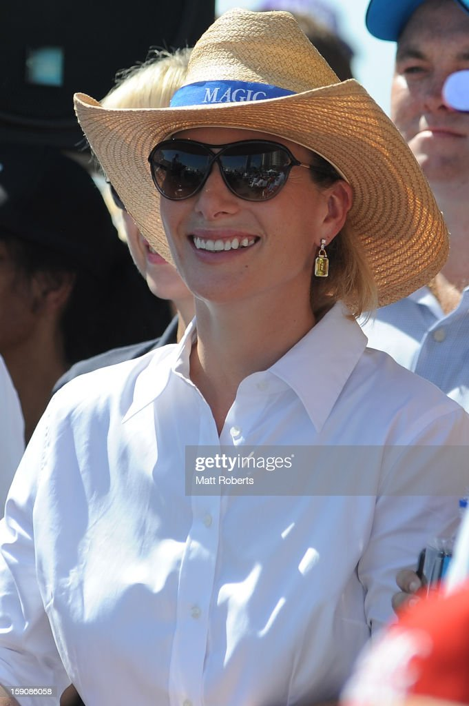 Zara Phillips looks on during the Magic Millions Barrier Draw on January 8, 2013 in Surfers Paradise, Australia.
