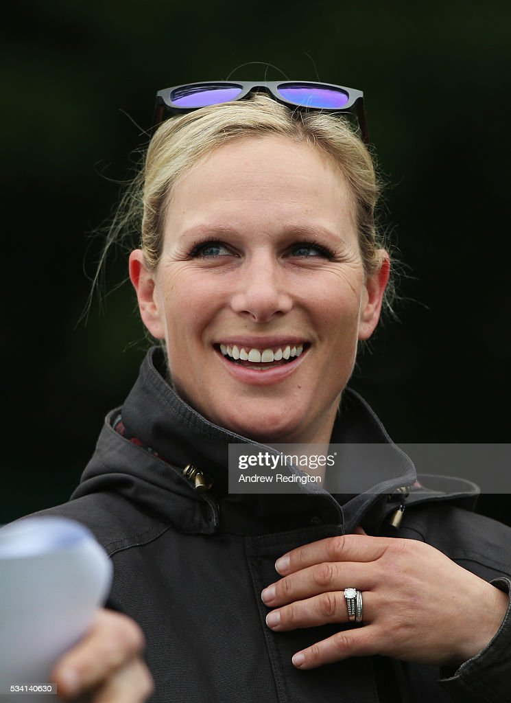 Zara Phillips looks on during the Pro-Am prior to the BMW PGA Championship at Wentworth on May 25, 2016 in Virginia Water, England.