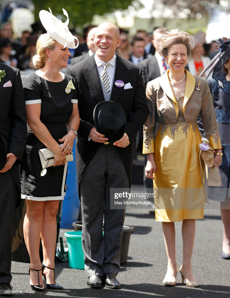 <a gi-track='captionPersonalityLinkClicked' href=/galleries/search?phrase=Zara+Phillips&family=editorial&specificpeople=161323 ng-click='$event.stopPropagation()'>Zara Phillips</a>, <a gi-track='captionPersonalityLinkClicked' href=/galleries/search?phrase=Mike+Tindall&family=editorial&specificpeople=204210 ng-click='$event.stopPropagation()'>Mike Tindall</a> and Princess Anne, The Princess Royal attend Day 1 of Royal Ascot at Ascot Racecourse on June 17, 2014 in Ascot, England.