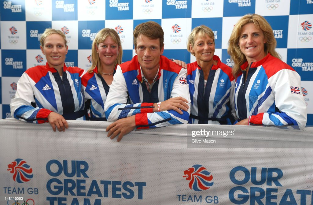 <a gi-track='captionPersonalityLinkClicked' href=/galleries/search?phrase=Zara+Phillips&family=editorial&specificpeople=161323 ng-click='$event.stopPropagation()'>Zara Phillips</a>, Nicola Wilson, <a gi-track='captionPersonalityLinkClicked' href=/galleries/search?phrase=William+Fox-Pitt&family=editorial&specificpeople=647065 ng-click='$event.stopPropagation()'>William Fox-Pitt</a>, <a gi-track='captionPersonalityLinkClicked' href=/galleries/search?phrase=Mary+King&family=editorial&specificpeople=2183214 ng-click='$event.stopPropagation()'>Mary King</a> and <a gi-track='captionPersonalityLinkClicked' href=/galleries/search?phrase=Kristina+Cook+-+Equestrian&family=editorial&specificpeople=4437186 ng-click='$event.stopPropagation()'>Kristina Cook</a> of British Equestrian pose for a photograph during a Team GB Kitting Out day at Loughborough University on July 10, 2012 in Loughborough, England.