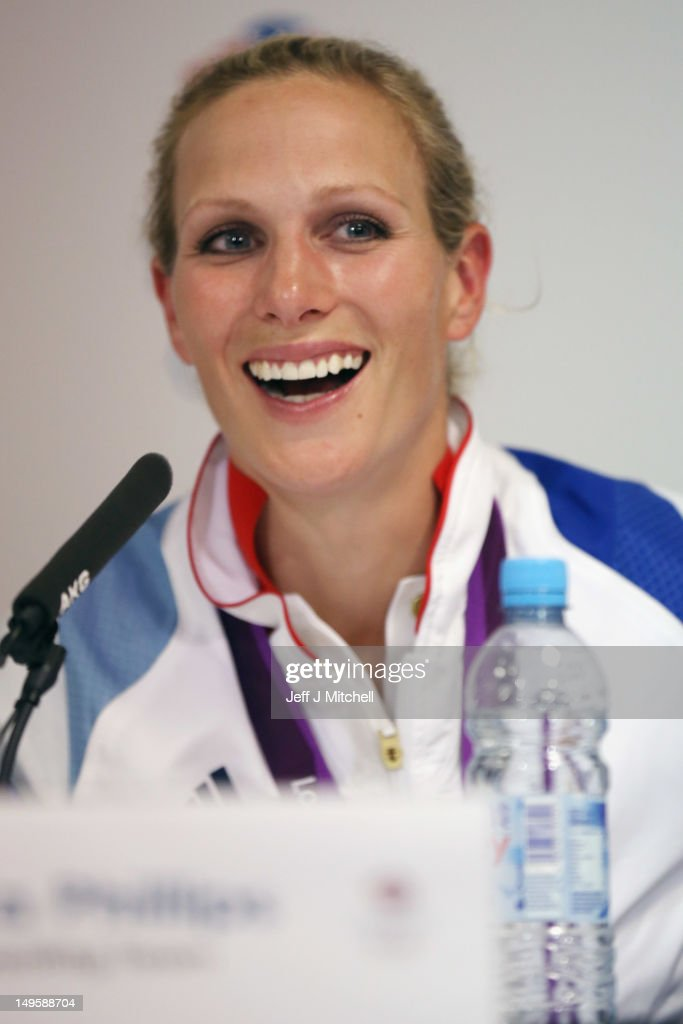 Zara Phillips of Great Britain atttends a press conference after winning the silver medal in the Eventing, during Day 4 of the London 2012 Olympic Games on July 31, 2012 in London, England.