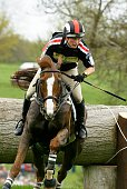Zara Phillips of Great Britain riding Ardfield Magic Star in action during the Cross Country phase of Badminton Horse Trials held at Badminton Park...