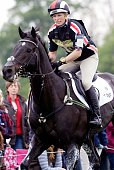 Zara Phillips of Great Britain riding Glenbuck in action during the Cross Coutry phase of Badminton Horse Trials held at Badminton Park in...