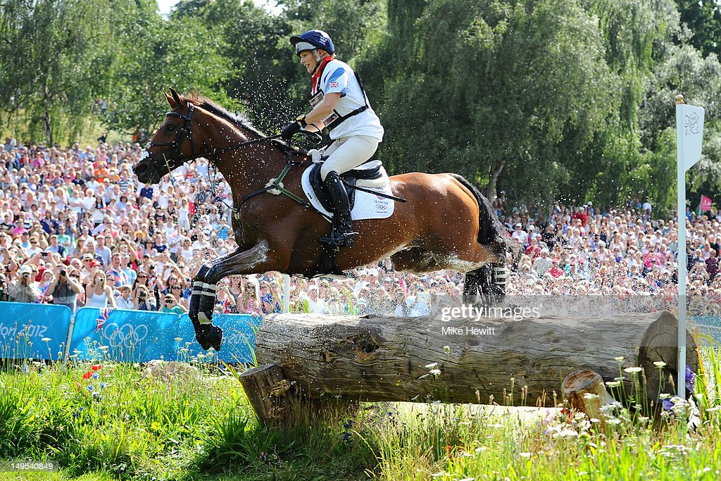 <a gi-track='captionPersonalityLinkClicked' href=/galleries/search?phrase=Zara+Phillips&family=editorial&specificpeople=161323 ng-click='$event.stopPropagation()'>Zara Phillips</a> of Great Britain riding High Kingdom negotiates a jump in the Eventing Cross Country Equestrian event on Day 3 of the London 2012 Olympic Games at Greenwich Park on July 30, 2012 in London, England.