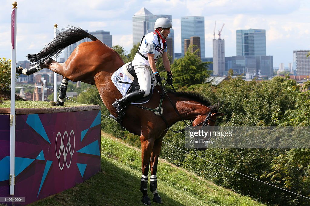 <a gi-track='captionPersonalityLinkClicked' href=/galleries/search?phrase=Zara+Phillips&family=editorial&specificpeople=161323 ng-click='$event.stopPropagation()'>Zara Phillips</a> of Great Britain riding High Kingdom negotiates an obstacle in the Eventing Cross Country Equestrian event on Day 3 of the London 2012 Olympic Games at Greenwich Park on July 30, 2012 in London, England.