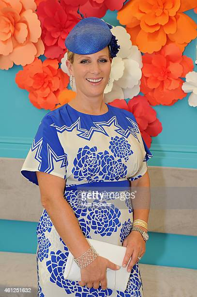 Zara Phillips poses during Magic Millions Race Day at Gold Coast Racecourse on January 10 2015 on the Gold Coast Australia