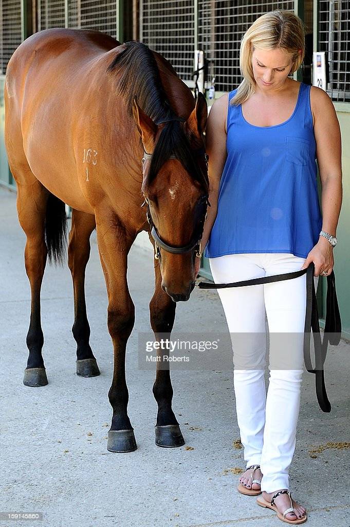 <a gi-track='captionPersonalityLinkClicked' href=/galleries/search?phrase=Zara+Phillips&family=editorial&specificpeople=161323 ng-click='$event.stopPropagation()'>Zara Phillips</a> poses for a photo at the Magic Millions Sales Complex on January 9, 2013 on the Gold Coast, Australia. <a gi-track='captionPersonalityLinkClicked' href=/galleries/search?phrase=Zara+Phillips&family=editorial&specificpeople=161323 ng-click='$event.stopPropagation()'>Zara Phillips</a> is the ambassador for the 2013 Magic Millions carnival.