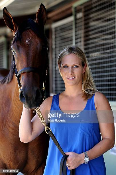 Zara Phillips poses for a photo at the Magic Millions Sales Complex on January 9 2013 on the Gold Coast Australia Zara Phillips is the ambassador for...
